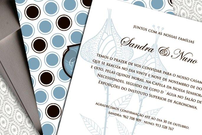 Ideias para convites de casamento 2010 - Moldes Design