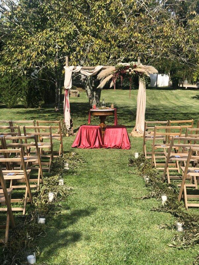 Altar no exterior da quinta