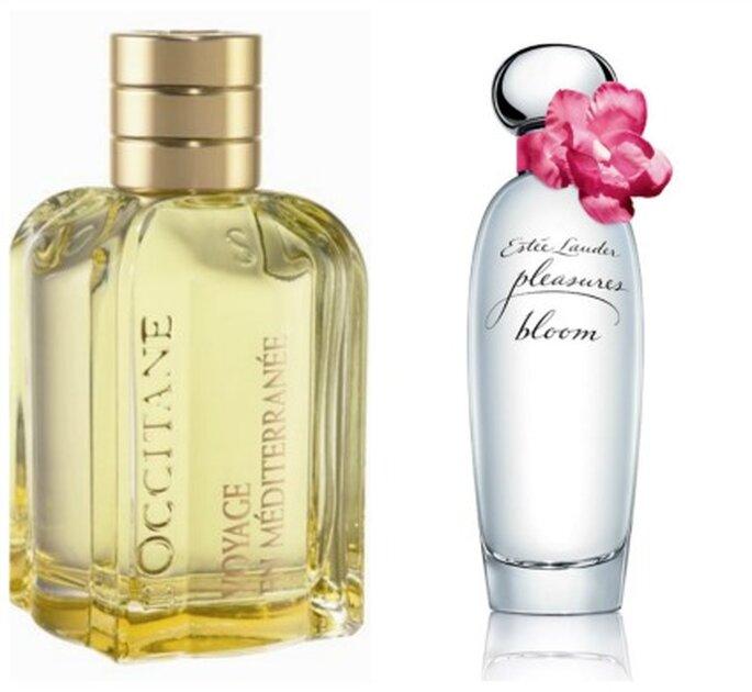 Perfumes románticos de L'Occitane y Pleasures de Estée Lauder