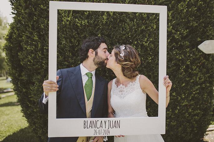 foto novios en boda