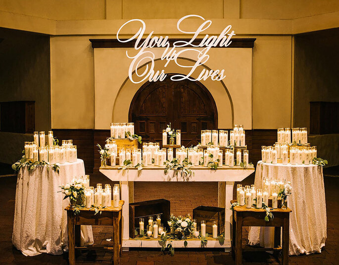 Velas artesanales como recordatorios para invitados a matrimonio