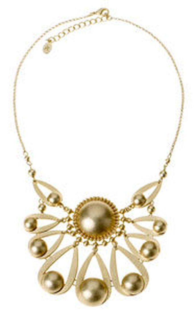 Space Age Fan Necklace, £15, Accessorize