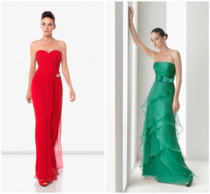 Vestidos de fiesta de Rosa Clará 2012 - Strapless