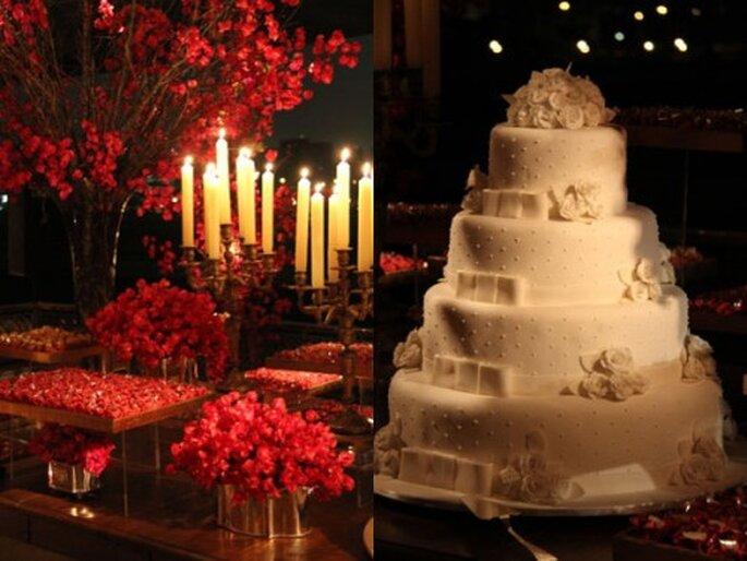 Decoración de boda en un sólo color. Boutique de Tres