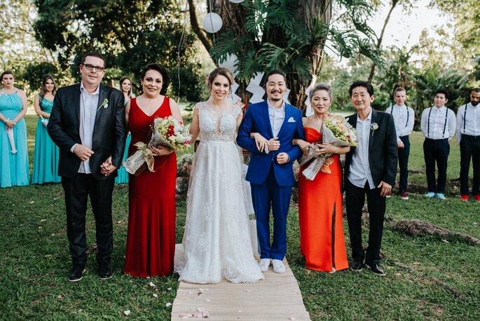 Pais e noivos