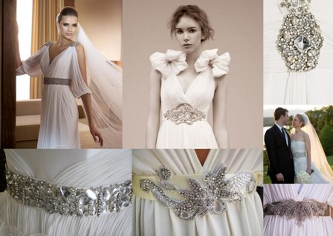 Wedding dresses with belts have been in for a while now and are an