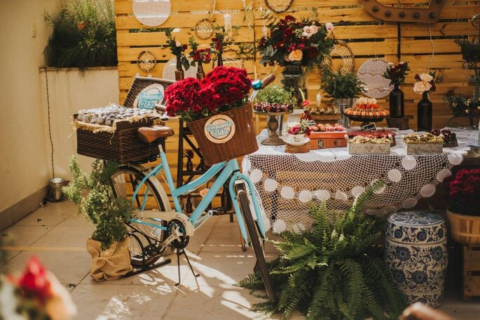 bicicleta no casamento