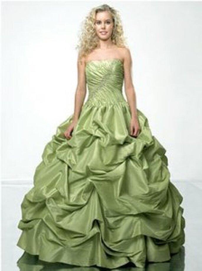 Vestido estilo Princesa en verde
