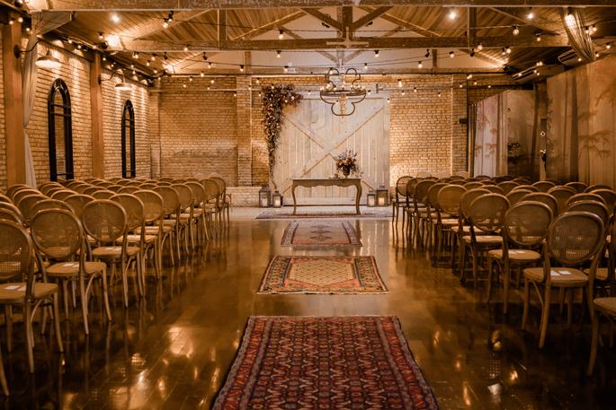 cerimônia de casamento rustica