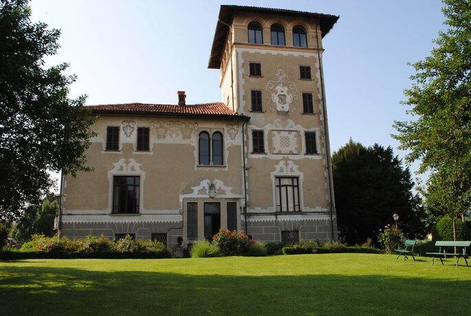 Castello Benso di Mercenasco - facciata