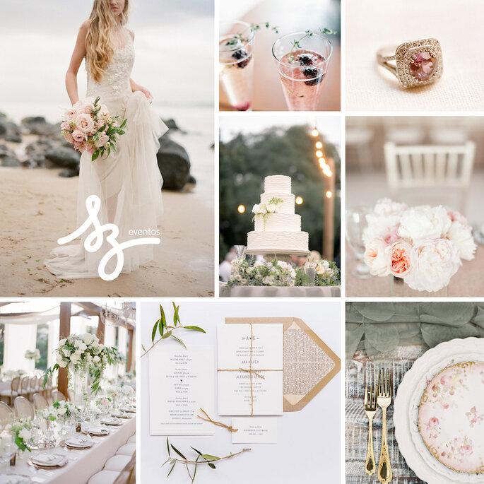 Una boda con estilo fresco y shabby chic - Tim Willoughby, Jose Villa Photography, Lavender & Twine, Caroline Frost Photography,