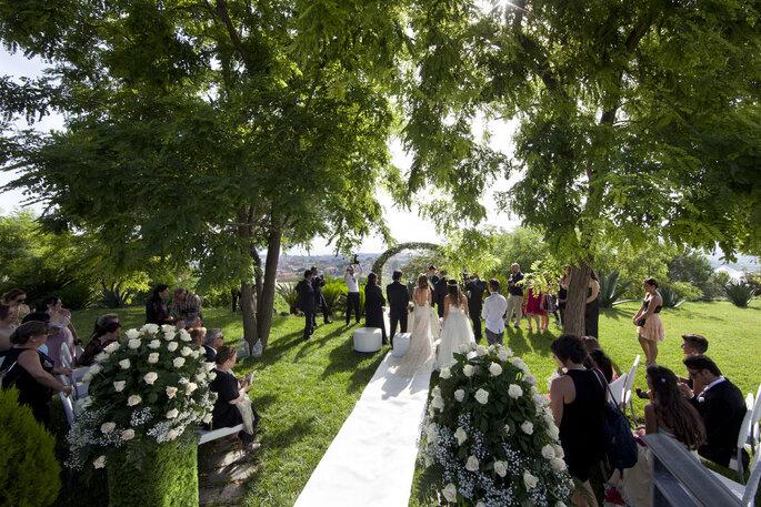 Villa Andrea di Isernia - cerimonia in giardino