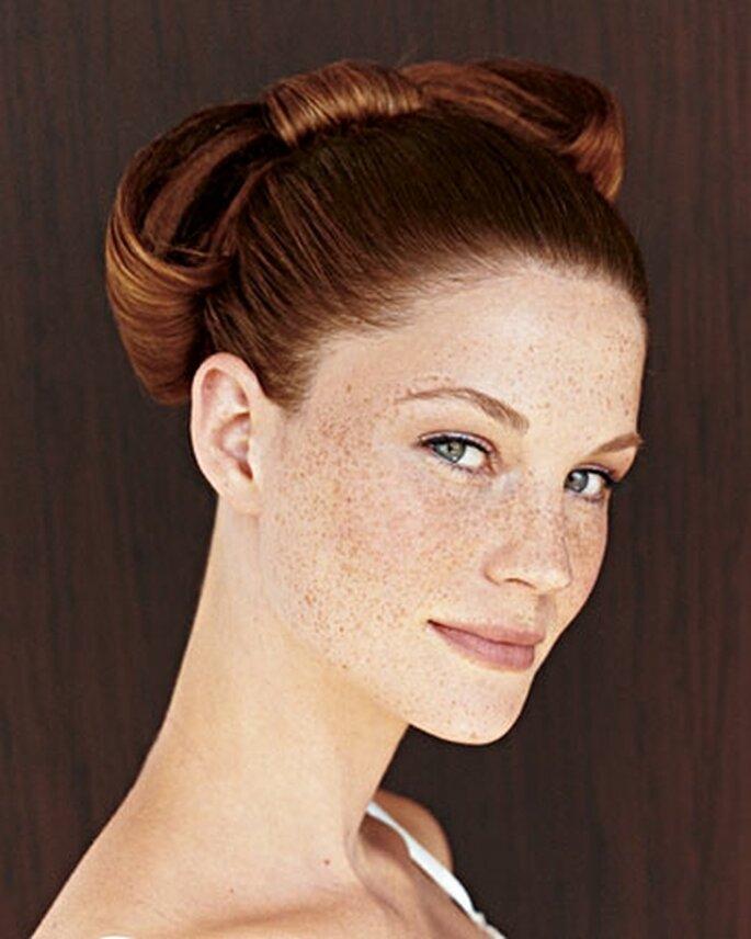 Ravissante coiffure, Martha Stewart Weddings