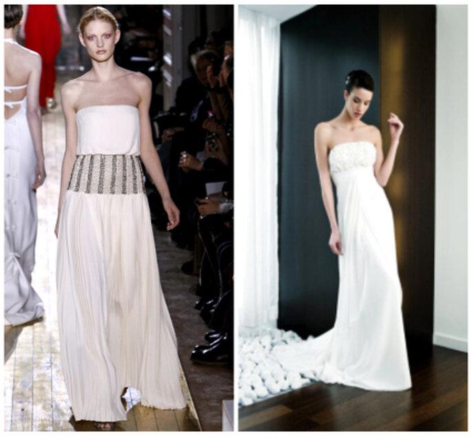 A gauche, la collection Valentino 2012. A droite, une création de Penhalta 2012