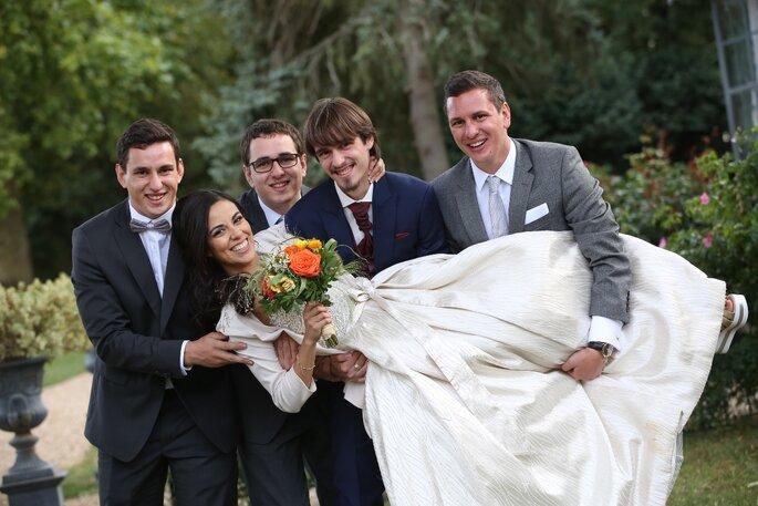 La mariée et ses invités