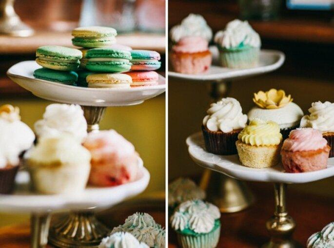 Macarons como postre para tu boda - Foto Nyk + Cali