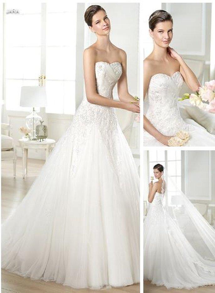 Tiulowa suknia ślubna Jara