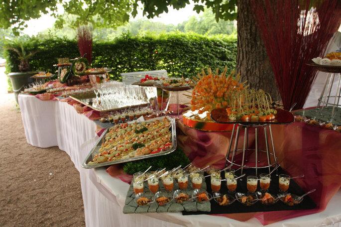 Buffet de mariage vert : véritable plaisir des yeux