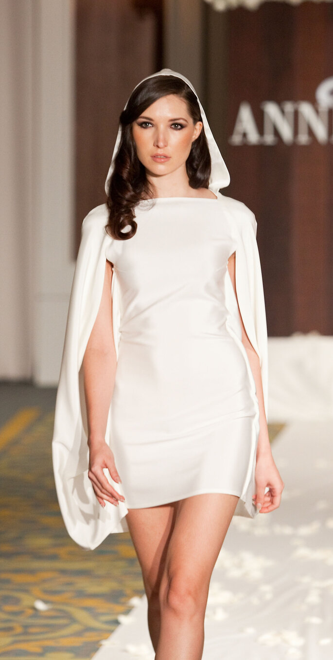 Guinevere: Sovereign Source of Power Silk 3-ply sponged crepe hooded dress, $870.