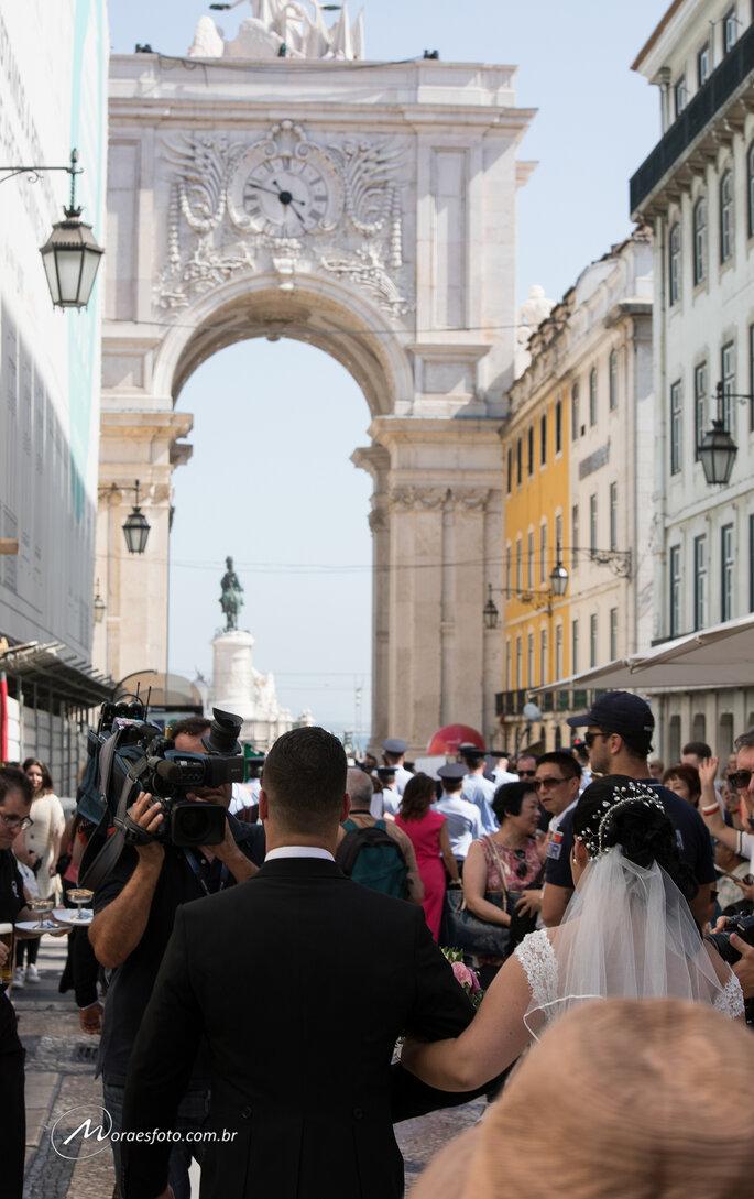 Imprensa no casamento coletivo em Portugal