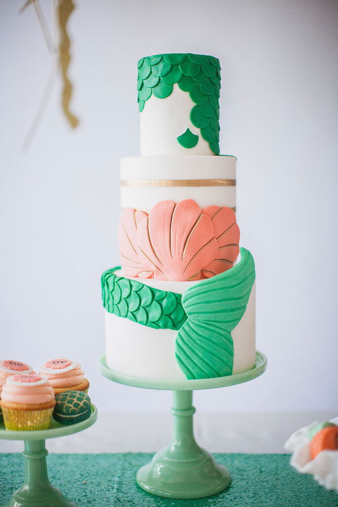 tarta de bodas playa