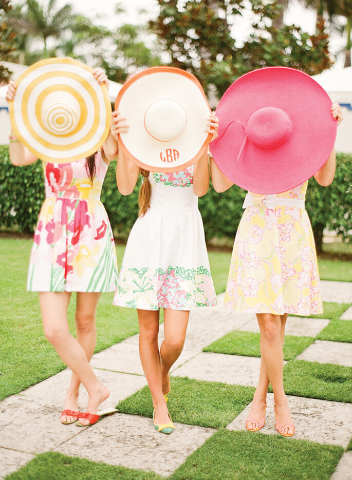Accesorios para tus damas de boda en colores cítricos - Foto KT Merry Photography