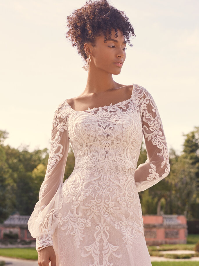 Brautkleider mit transparenten Details