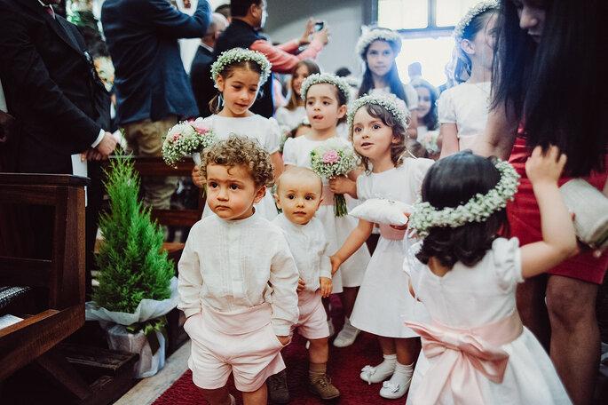 cortejo nupcial crianças casamento