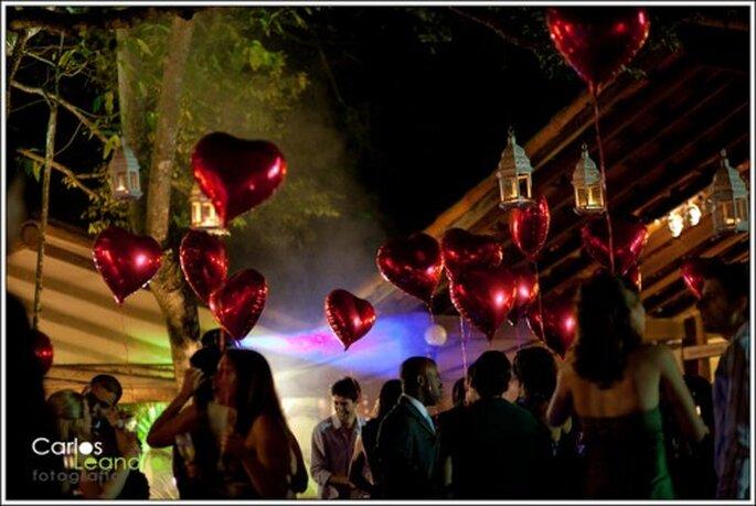 Decoración de boda con corazones. Foto: Carlos Leandro