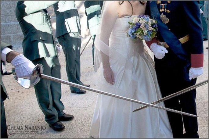 Una boda militar... ¡digna de un príncipe y una princesa de verdad! Foto de Chema Naranjo