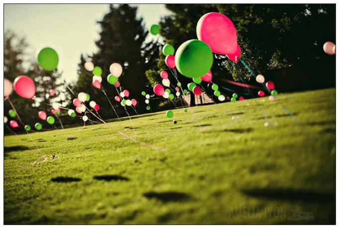 Decoración de boda con globos - Foto Amelia Lyon