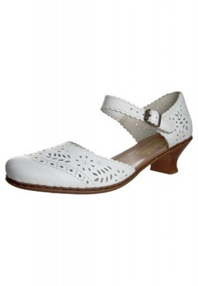 Bequeme Brautschuhe vom komfortablen Schuhhersteller schlechthin: Rieker Caribu Pumps