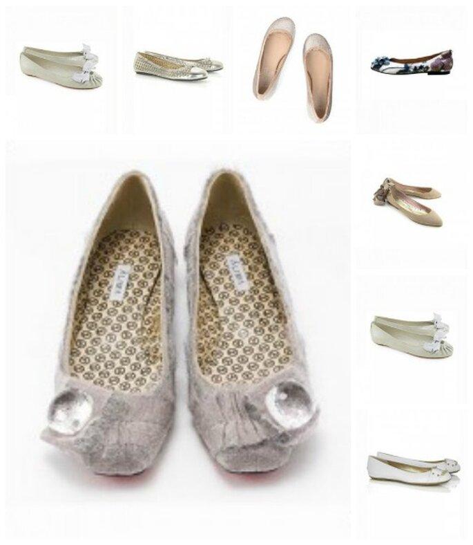 Bailarinas, última tendencia en zapatos para el vestido de novia