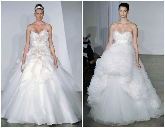 Abiti con gonna vaporosa per sentirsi vere principesse.Marchesa Fall 2013 Bridal Collection. Foto: www.marchesa.com