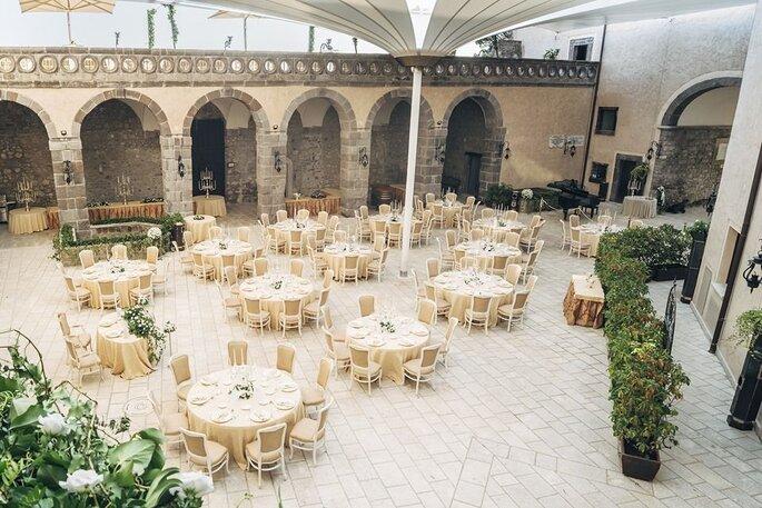 Castello di Faicchio, corte interna