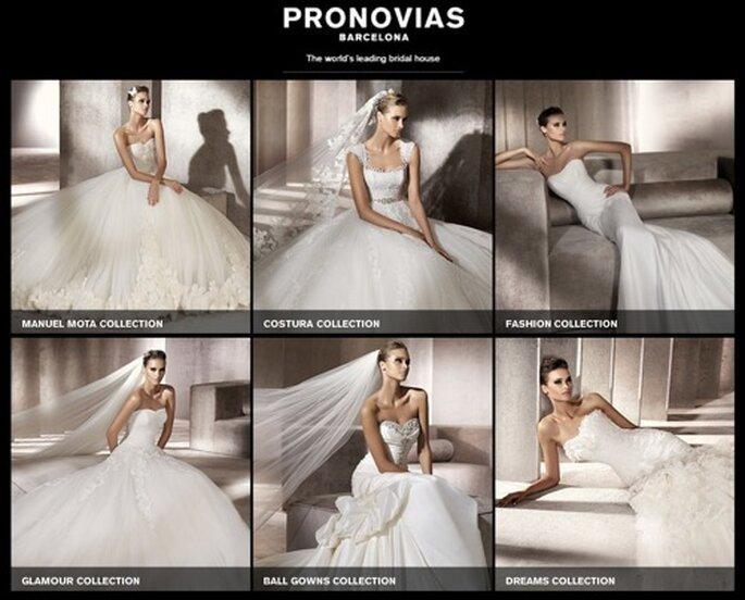Die 2012er Neuheiten von Pronovias: äußerst vielseitig.