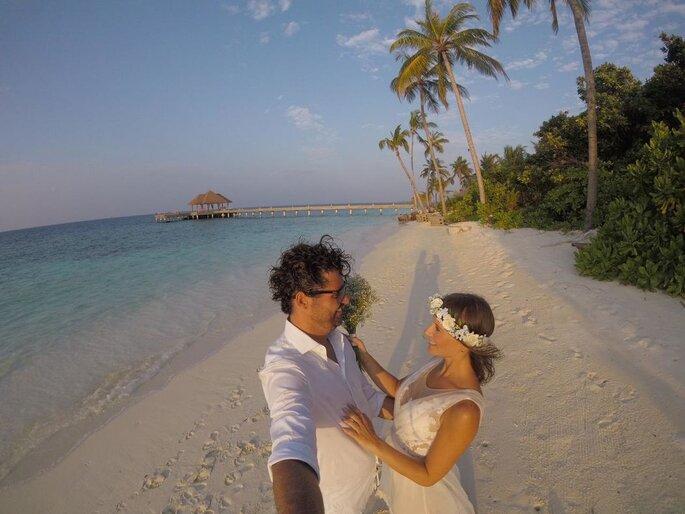 Mazzi Assessoria. Foto casal destination wedding