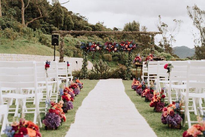 Decoración de ceremonia de boda