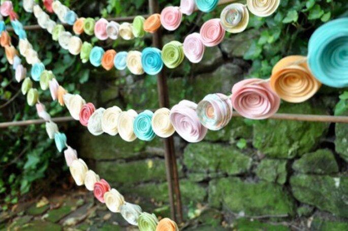 Guirnaldas decorativas para una boda en 2013 - Foto Lillesyster
