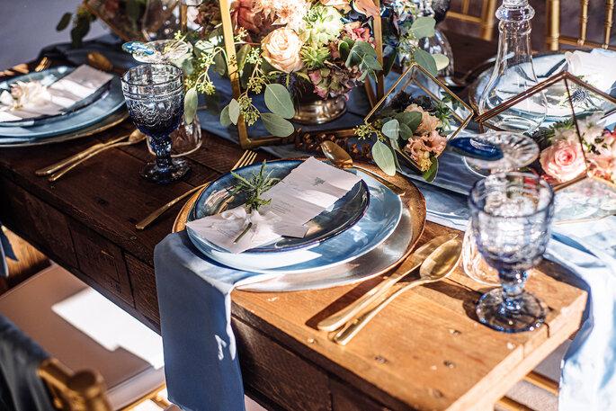 Die Tischdekoration im Rustic Chic.