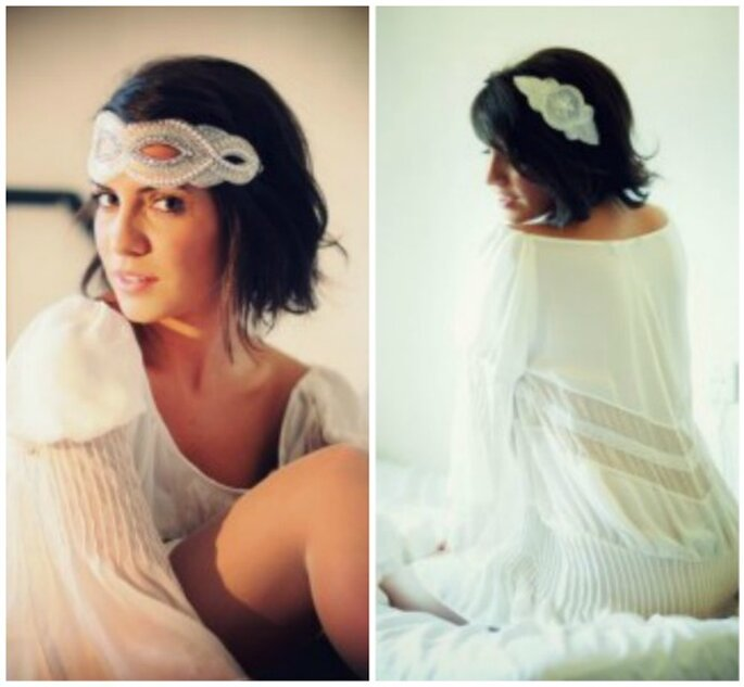 Tocados estilo años 20 para novias. Foto Cherubina