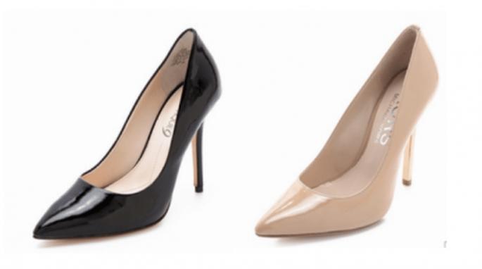 Zapatos en color neutro y en tendencia para combinar con tu vestido de fiesta - Foto ShopBop