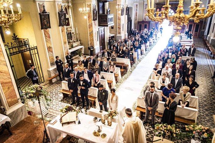 Piero Licci - cerimonia nuziale scatto dall'alto