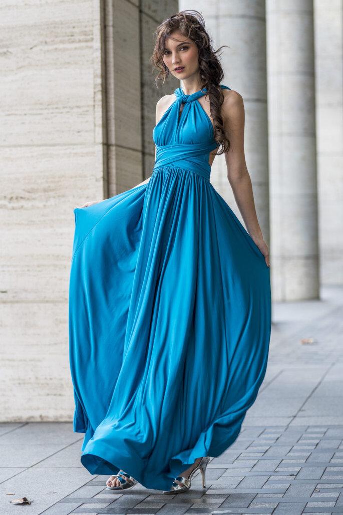 Outfit Hochzeitsgast blau