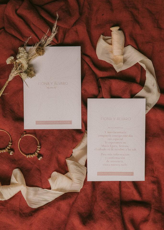 Invitaciones para boda rústica- Estudio Requetebien