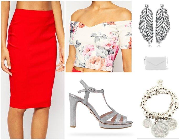 Jupe et Top : Asos / Chaussures :  Repetto / Bracelet : Gas Bijoux / BO : Pandora / Sac : Lancaster