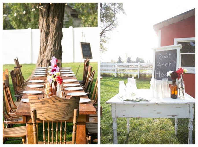 Les meilleures idées pour les stands boissons de votre mariage - Photo: Zach Mathers Photography