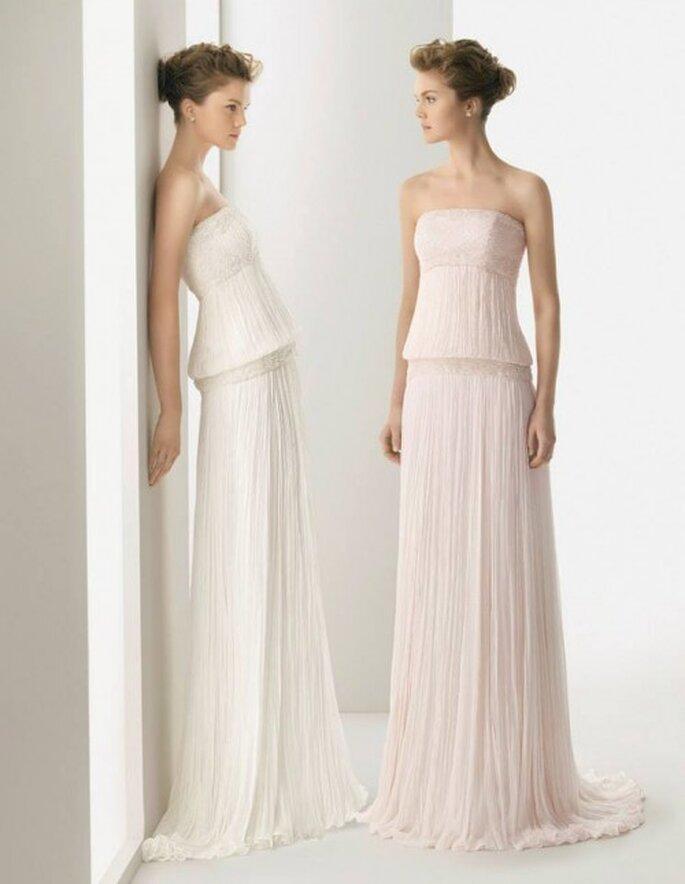 Vestidos de novia 2014 con estilo hippie y silueta holgada - Foto Rosa Clará