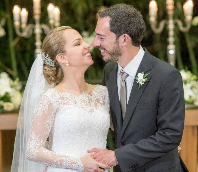 casamento clássico noivos