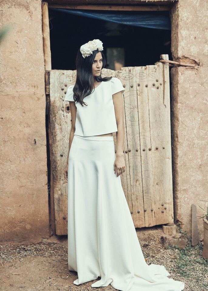 Robe simple, minimaliste pour un mariage civil
